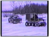 Escargo tracks in action during the winter  - film 8