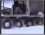 Escargo tracks in action during the winter - film 1